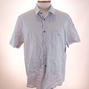 Alfani Men's Silver Short Sleeve Polo Shirt